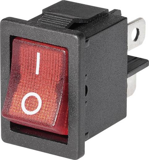 Mini-Wippschalter 1 x Ein beleuchtet