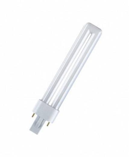 Energiesparlampe 106 mm OSRAM 230 V G23 5 W = 25 W Neutralweiß EEK: B Stabform 1 St.