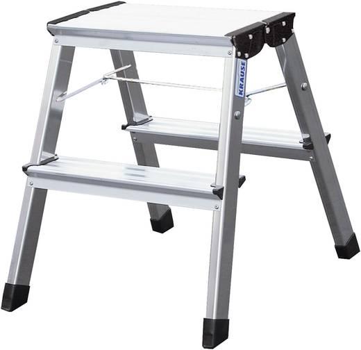 Aluminium Montagetritt klappbar Arbeitshöhe (max.): 2.45 m Krause MONTO Treppy 130013 Silber 2 kg