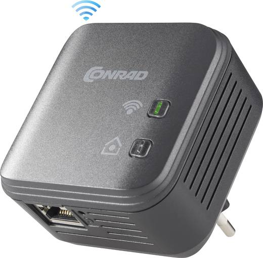 Powerline WLAN Einzel Adapter 500 MBit/s PL500D WiFi
