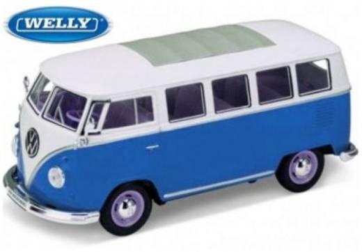 1:24 Modellauto Welly VW Bus T1 1962 1:24