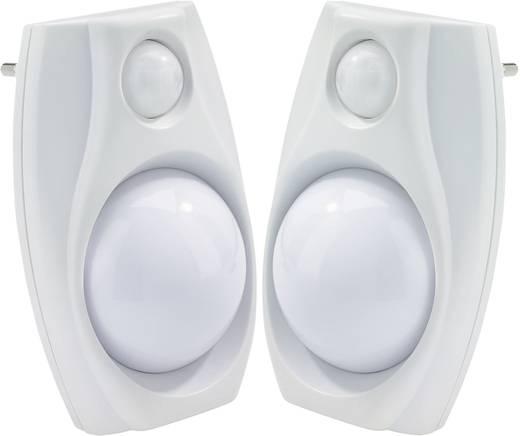Nachtlicht mit Bewegungsmelder 2er Set Rechteckig LED Weiß Weiß