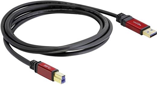 USB 3.0 Anschlusskabel [1x USB 3.0 Stecker A - 1x USB 3.0 Stecker B] 5 m Rot, Schwarz vergoldete Steckkontakte, UL-zerti