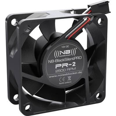 NoiseBlocker BlackSilent Pro PC-Gehäuse-Lüfter Schwarz (B x H x T) 60 x 60 x 25 mm Preisvergleich