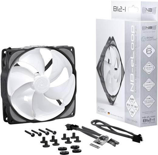 PC-Gehäuse-Lüfter NoiseBlocker ITR-B12-PS Weiß/Schwarz (B x H x T) 120 x 120 x 25 mm