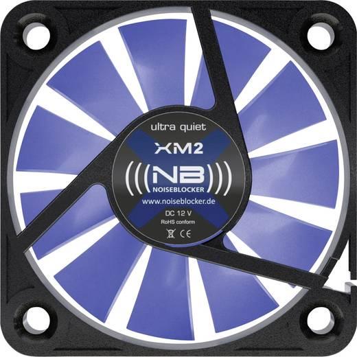 PC-Gehäuse-Lüfter NoiseBlocker BlackSilent XM-2 Schwarz, Blau (transparent) (B x H x T) 40 x 40 x 10 mm