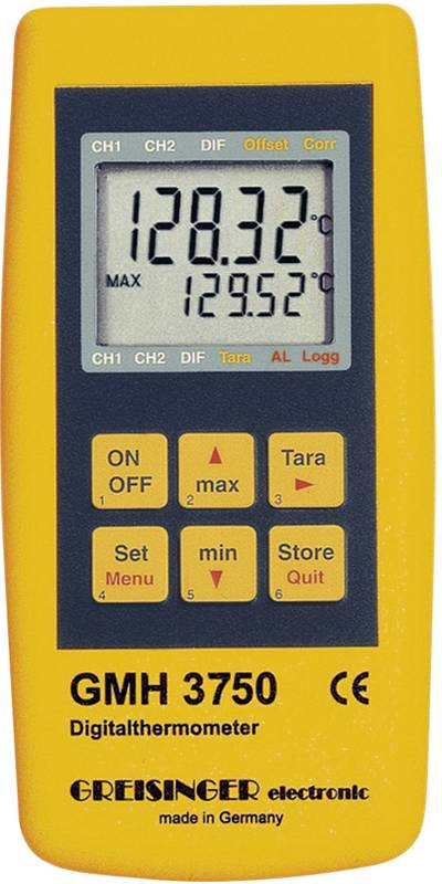 Thermometer Greisinger GMH 3750-GE -199.99 up to +850 °C Sensor