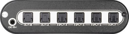 4 Port Toslink-Matrix-Switch SpeaKa Professional 29063C1 mit Fernbedienung