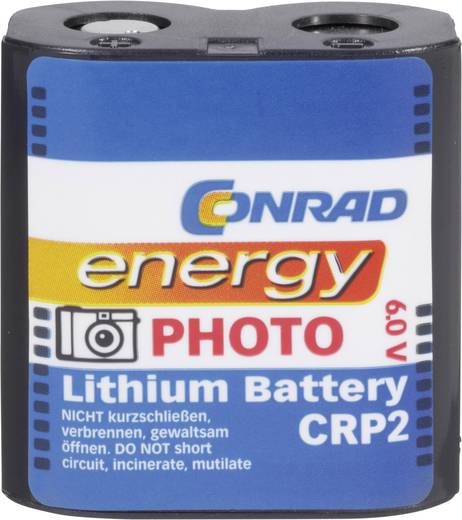 Fotobatterie CR-P 2 Lithium Conrad energy CRP2 1400 mAh 6 V 1 St.