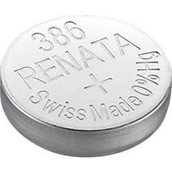 Knoflíková baterie na bázi oxidu stříbra Renata SR43, velikost 386, 130 mAh, 1,55 V