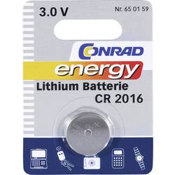 Knoflíková baterie Conrad energy CR2016, lithium