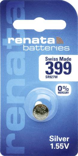 Knopfzelle 399 Silberoxid Renata SR57 Hochstromfähig 53 mAh 1.55 V 1 St.