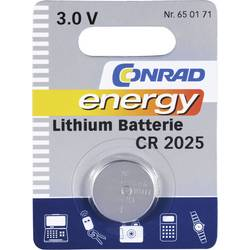 Knoflíková baterie Conrad energy CR2025, lithium