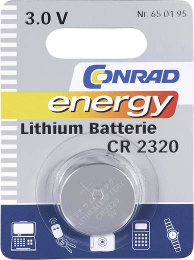 Knopfzelle CR 2320 Lithium Conrad energy CR2320 120 mAh 3 V 1 St.