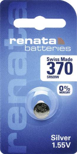 Knopfzelle 370 Silberoxid Renata SR69 Hochstromfähig 40 mAh 1.55 V 1 St.