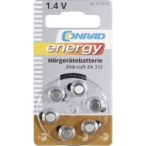 Conrad Energy Knopfzelle Za 312 Zink Luft 160 Mah 1 4 V 6 St Kaufen