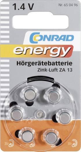 Knopfzelle ZA 13 Zink-Luft Conrad energy PR48 Hörgerätebatterie 280 mAh 1.4 V 6 St.