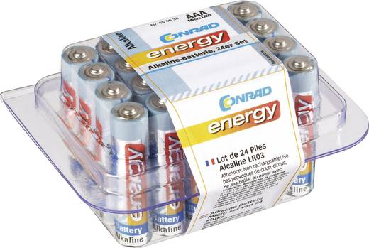 Micro (AAA)-Batterie Alkali-Mangan Conrad energy LR03 1.5 V 24 St.