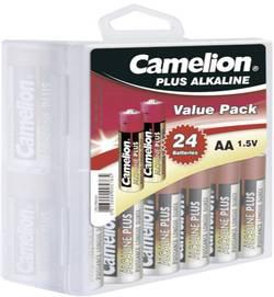 Baterie alkalická Camelion v boxu, typ AA, sada 24 ks