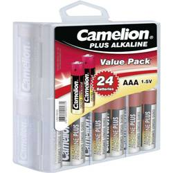Baterie alkalická Camelion, typ AAA, sada 24 ks v boxu