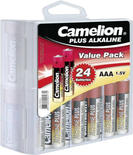 Micro (AAA)-Batterie Alkali-Mangan Camelion LR03 1250 mAh 1.5 V 24 St.