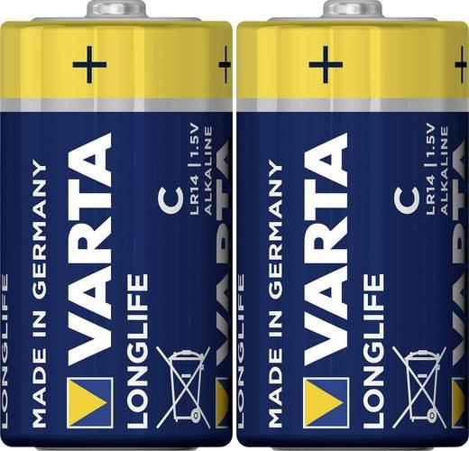 Baby (C)-Batterie Alkali-Mangan Varta Longlife LR14 7600 mAh 1.5 V 2 St.