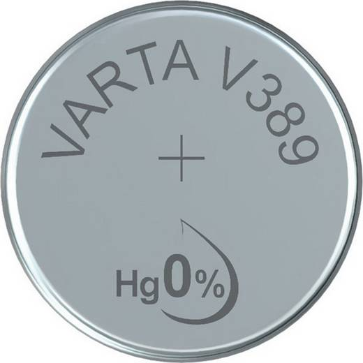 Knopfzelle 389 Silberoxid Varta Electronics SR54, compatible courant fort 85 mAh 1.55 V 1 St.