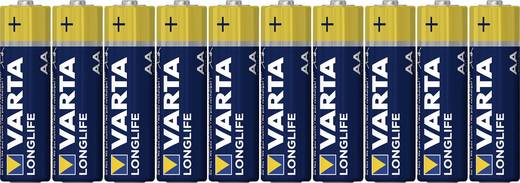 Mignon (AA)-Batterie Alkali-Mangan Varta Longlife LR06 1.5 V 8 St.
