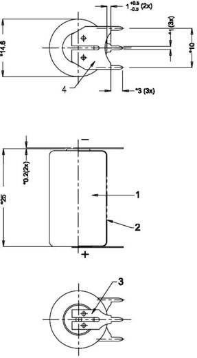 Spezial-Batterie CR 1/2 AA SLF U-Lötpins Lithium Varta CR1/2 AA SLF 3 V 970 mAh 1 St.