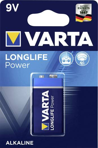 9 V Block-Batterie Alkali-Mangan Varta High Energy 6LR61 9 V 1 St.