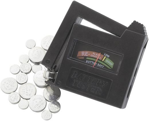 Conrad energy Knopfzellen-Set 6x AG1, 12x AG3, 6x AG4, 9x AG10, 3x AG12, 6x AG13 · Batterie-Tester
