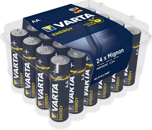 Mignon (AA)-Batterie Alkali-Mangan Varta Energy LR06 1.5 V 24 St.