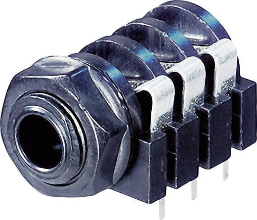 Klinken-Steckverbinder 6.35 mm Buchse, Einbau horizontal Polzahl: 3 Stereo Schwarz Rean AV NYS216 1 St.