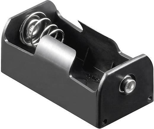 Batteriehalter 1x Baby (C) Druckknopfanschluss (L x B x H) 58 x 29 x 24 mm Goobay 11454