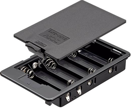 Batteriehalter 6x Mignon (AA) Lötanschluss (L x B x H) 114 x 65.8 x 21 mm Goobay 10886
