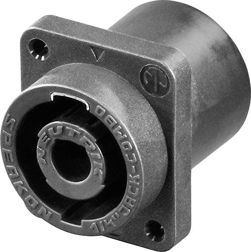 Lautsprecher-Steckverbinder Flanschbuchse, Kontakte gerade Polzahl: 2 Schwarz Neutrik NLJ2MD-H 1 St.