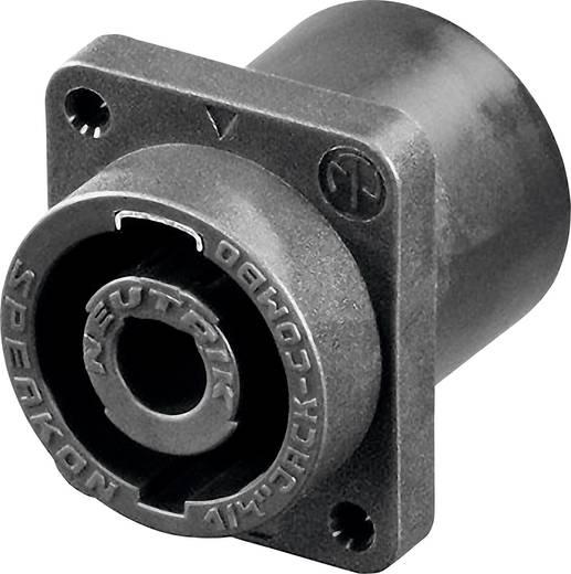 Lautsprecher-Steckverbinder Flanschbuchse, Kontakte gerade Polzahl: 2 Schwarz Neutrik NLJ2MD-V 1 St.