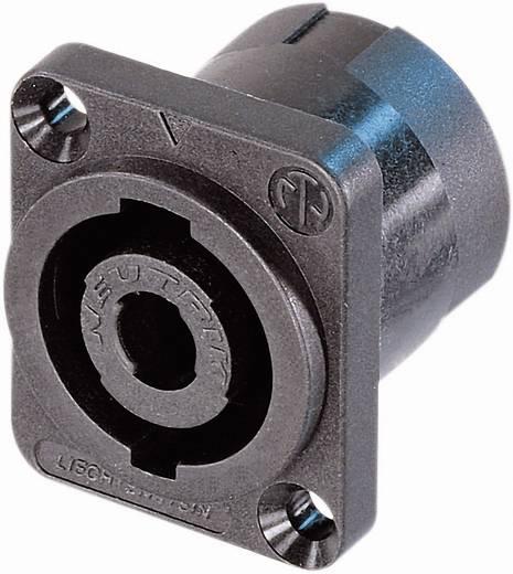 Lautsprecher-Steckverbinder Flanschbuchse, Kontakte gerade Polzahl: 4 Schwarz Neutrik NL4MP-ST 1 St.