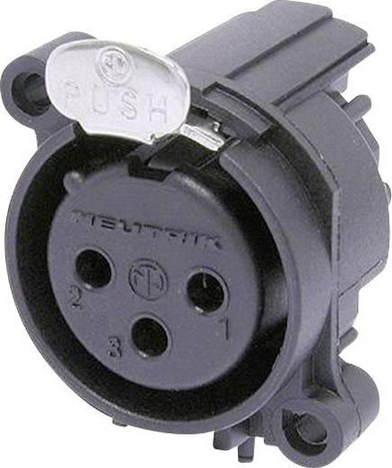 XLR-Steckverbinder Flanschbuchse, Kontakte gewinkelt Polzahl: 3 Schwarz Neutrik NC3FAAH1 1 St.