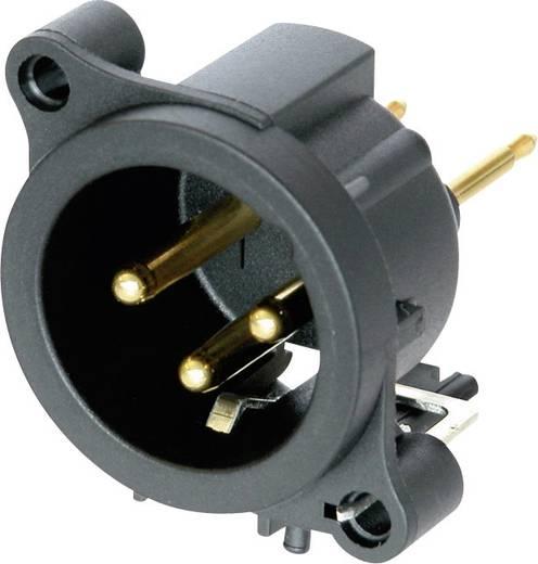 XLR-Steckverbinder Flanschstecker, Kontakte gerade Polzahl: 3 Schwarz Neutrik NC3MAAV 1 St.
