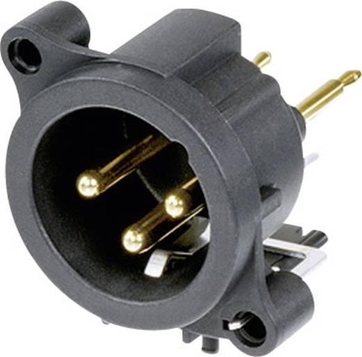 XLR-Steckverbinder Flanschstecker, Kontakte gerade Polzahl: 3 Schwarz Neutrik NC3MAV 1 St.