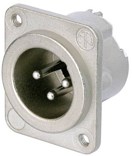 XLR-Steckverbinder Flanschstecker, Kontakte gerade Polzahl: 3 Silber Neutrik NC3MD-LX-M3 1 St.