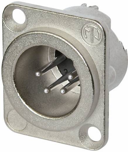 XLR-Steckverbinder Flanschstecker, Kontakte gerade Polzahl: 4 Silber Neutrik NC4MD-LX 1 St.