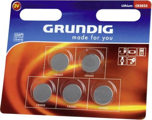 Knopfzelle CR 2025 Lithium Grundig CR2025 127 mAh 3 V 5 St.