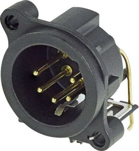 XLR-Steckverbinder Flanschstecker, Kontakte gewinkelt Polzahl: 5 Schwarz Neutrik NC5MAH 1 St.