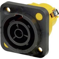 Sieťový konektor Neutrik NAC3FPX-ST, zásuvka, vstavateľná vertikálna, počet kontaktov: 2 + PE, 16 A, 250 V/AC, čierna, 1 ks