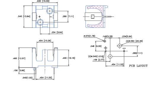 Batteriehalter 1x 1/3N Lötanschluss (L x B x H) 16 x 13.5 x 12.5 mm MPD BH1/3N-C