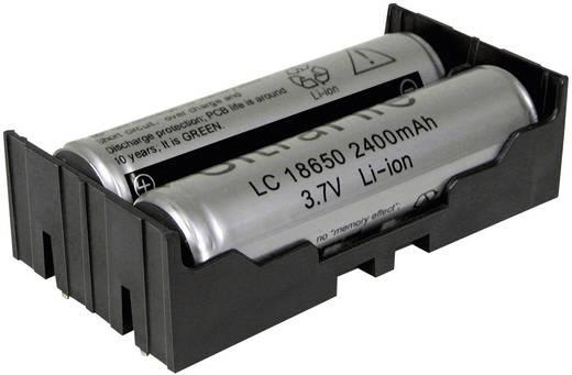 Batteriehalter 2x 18650 Durchsteckmontage THT (L x B x H) 77.7 x 40.21 x 21.54 mm MPD BK-18650-PC4
