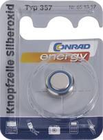 Pile bouton 357 oxyde d'argent Conrad energy 165 mAh 1.55 V 1 pc(s)