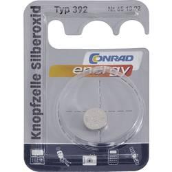Knoflíková baterie na bázi oxidu stříbra Conrad energy SR41, velikost 392, 45 mAh, 1,55 V